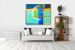 White Arc Canvas Art Print on the wall