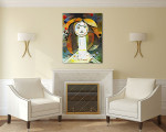 Woman Abstract Style Art Print on the wall