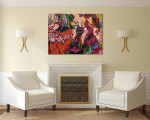 Women In Gowns Canvas Art Print on the wall