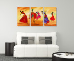 Beautiful Damsels - 3panels on the wall