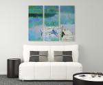 Crystal Lake - 3panels on the wall