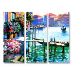 Flowers of Venice Italy - 3panels
