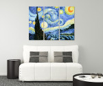 Starry Night - 3panels on the wall