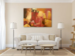 Abstract Human Figures Art Print on the wall