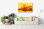 Aged Brushstrokes Art Print on the wall