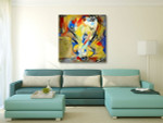 Bouquet Abstract Canvas Art Print on the wall