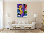 Cartoon Picasso Art Print on the wall