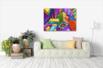 Cubic Dream Canvas Art Print on the wall