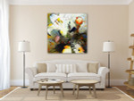 Decorative Flowers Wall Art Print on the wall