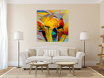 Floral Bouquet Wall Art Print on the wall