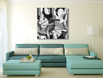Floral Geometry Art Print on the wall