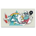 Funky Hipster Art Print