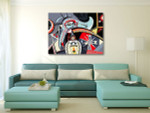 Futuristic Doodle Art Print on the wall