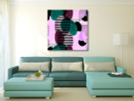 Lines and Ovals Wall Art Print on the wall