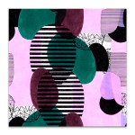 Lines and Ovals Wall Art Print