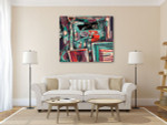 Messy Vibrant Texture Art Print on the wall
