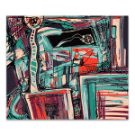 Messy Vibrant Texture Art Print
