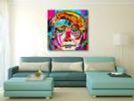 Modern Man Face Art Print on the wall
