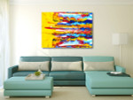 Oil Paint on Canvas Art Print on the wall