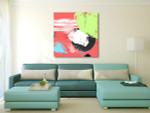 Overlay Pastel Colors Art Print on the wall