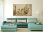 Pestsaule in Vienna Canvas Art Print on the wall