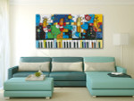 Piano and Birds Wall Art Print on the wall