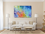Rainbow Corals Art Print on the wall