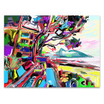 Seaside Landscape Canvas Art Print