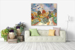 Slavic Village Canvas Art Print on the wall