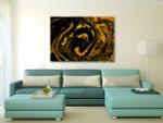 Splash of Gold Art Print on the wall