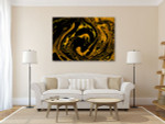 Splash of Gold Art Print on the wall