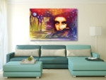 Staring Woman Canvas Art Print on the wall