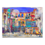 Street Houses in Colors Art Print