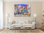 Street Houses in Colors Art Print on the wall