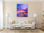 Twilight Sky Canvas Art Print on the wall