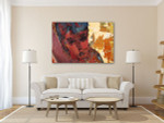 Woman in Nude Colors Art Print on the wall