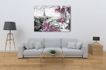 Balcony View of Paris in Wall Art Print on the wall