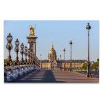Bridge in Paris Canvas Art Print