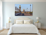 Bridge in Paris Canvas Art Print on the wall