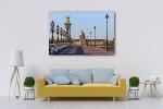 Bridge in Paris Canvas Art Print on the wall