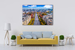 Champs-Elysees Cityscape Art Print on the wall