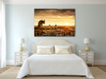Chimera Cathedral Notre Dame Art Print on the wall