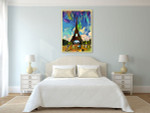 Colorful Abstract of Eiffel Tower Art Print on the wall