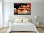 Croissant in Paris Art Print on the wall