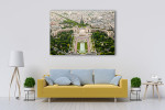 Eiffel Tower Top Paris View Art Print on the wall