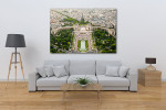 Eiffel Tower Top Paris View Art Print on the wall