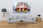 Historic Street Cafe Art Print on the wall