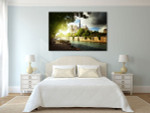 Historical Notre Dame de Paris Cathedral Art Print on the wall