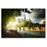 Historical Notre Dame de Paris Cathedral Art Print