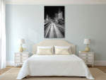 La Defense Financial District at Night Art Print on the wall